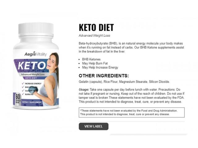Aegis Vitality Keto 100% Natural Ingredients