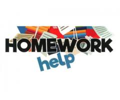 Tutoring Online, Homework Help, Assignment Help