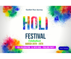 Holi Celebration Packages Near Delhi – Golden Huts Resort Rewari