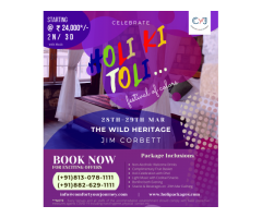 Jim Corbett Holi Packages| The Wild Heritage Resort Jim Corbett